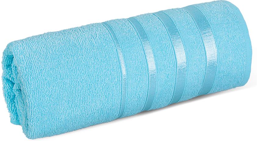 Полотенце махровое Soavita luxury, цвет: бирюза, 50 х 88 см97469Махровое полотно создается из хлопковых нитей, которые, в свою очередь, прядутся измножества хлопковых волокон. Чем длиннее эти волокна, тем прочнее будет нить, и,соответственно, изделие. Длина составляющих хлопковую нить волокон влияет и на фактуруполучаемой ткани: чем они длиннее, тем мягче и пушистее получится махровое изделие, темлучше будет впитывать изделие воду. Мягкая махровая ткань отлично впитывает влагу ибыстро сохнет.