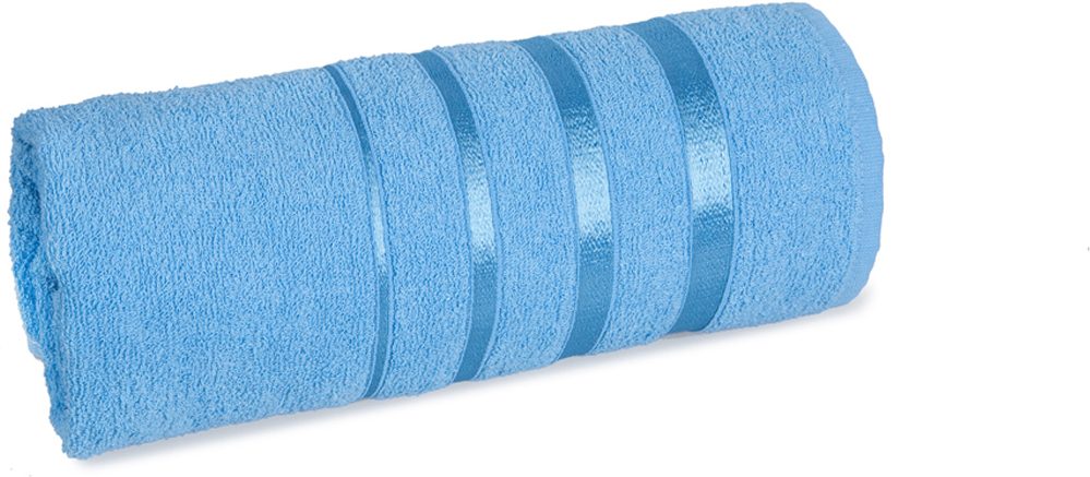 Полотенце махровое Soavita luxury, цвет: голубой, 65 х 138 см97478Махровое полотно создается из хлопковых нитей, которые, в свою очередь, прядутся из множества хлопковых волокон. Чем длиннее эти волокна, тем прочнее будет нить, и, соответственно, изделие. Длина составляющих хлопковую нить волокон влияет и на фактуру получаемой ткани: чем они длиннее, тем мягче и пушистее получится махровое изделие, тем лучше будет впитывать изделие воду. Мягкая махровая ткань отлично впитывает влагу и быстро сохнет.