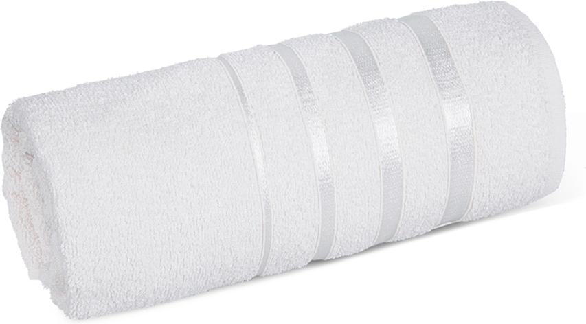 "Полотенце махровое Soavita ""luxury"", цвет: белый, 65 х 138 см"
