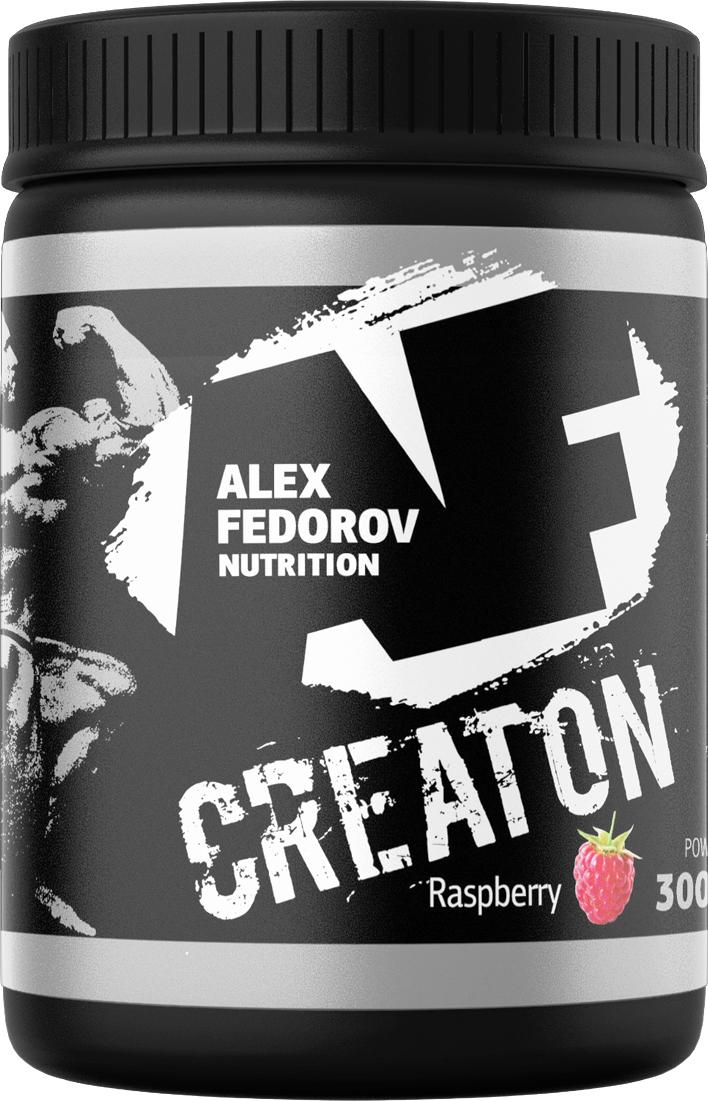 Энергообеспечивающий комплекс Alex Fedorov Nutrition  Creaton , малина, 300 г - Креатин