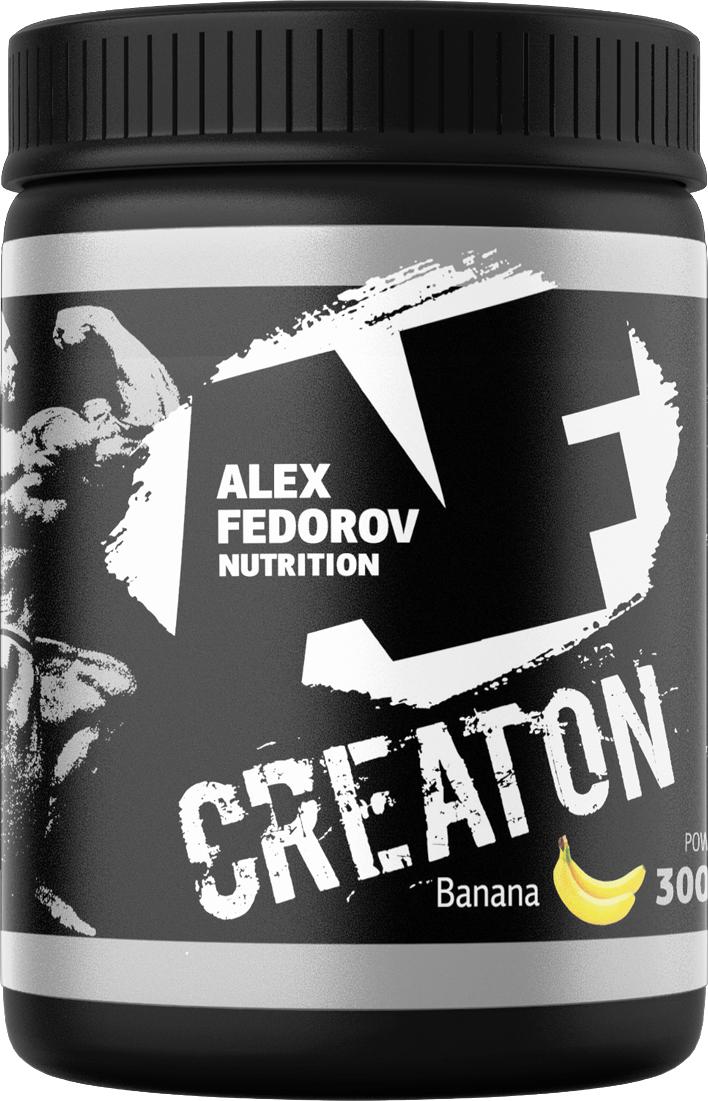 Энергообеспечивающий комплекс Alex Fedorov Nutrition  Creaton , банан, 300 г - Креатин
