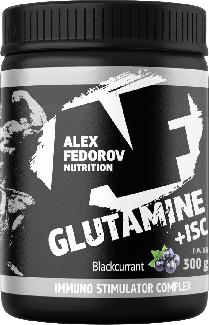 Аминокислота Alex Fedorov Nutrition Glutamine+Isc, черная сморода, 300 г глютамин atech nutrition glutamine pure powder 100% 300 г