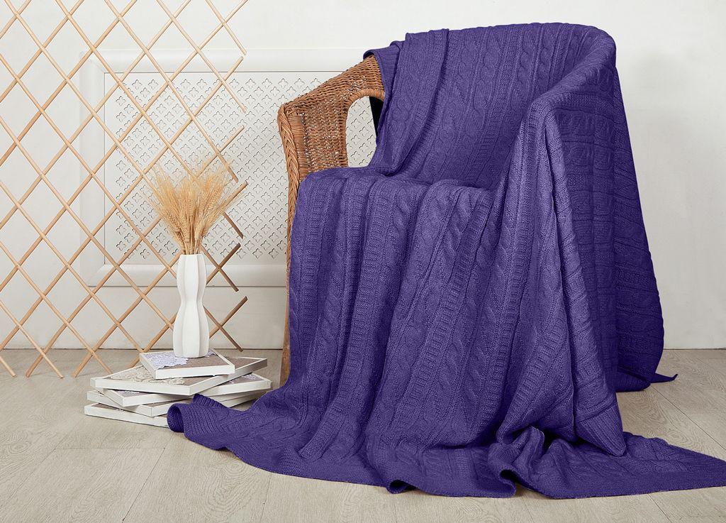 Плед ТД Текстиль, цвет: баклажановый, 160 x 220 см текстиль для дома