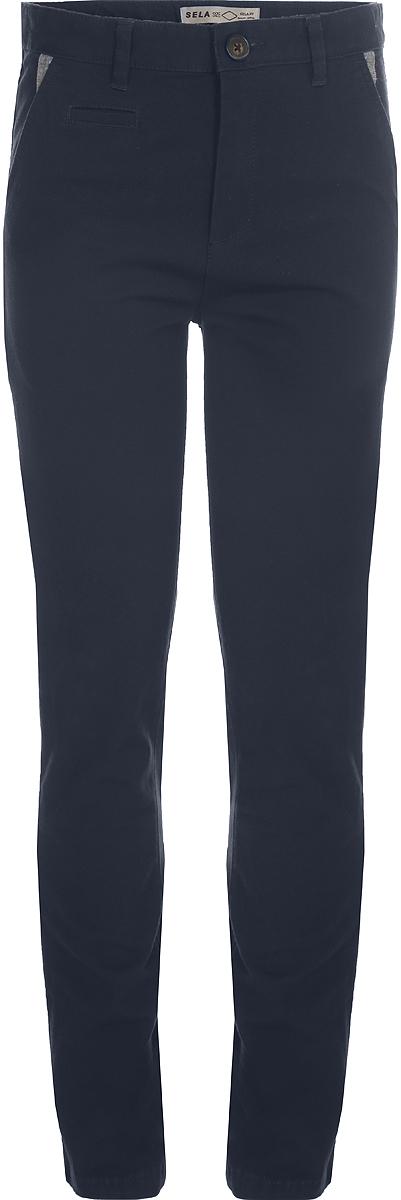Брюки для мальчика Sela, цвет: темно-синий. P-815/378-8142. Размер 116, 6 лет