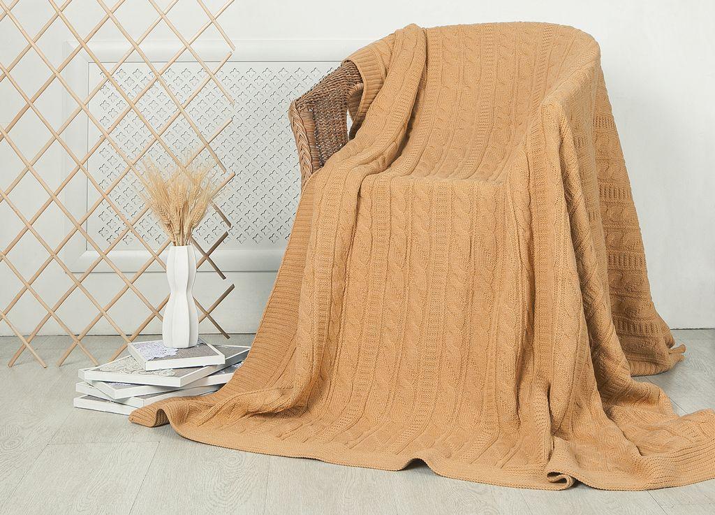 Плед ТД Текстиль, цвет: песочный, 160 x 220 см99024Плед ТД Текстиль - это идеальное решение для вашего интерьера. Плед, выполненный из 100% акрила, порадует вас легкостью и нежностью. Плед - это такой подарок, который будет всегда актуален, особенно для ваших родных и близких, ведь вы дарите им частичку своего тепла!