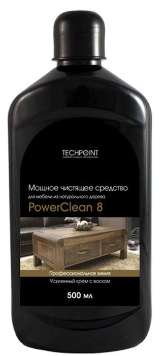 Чистящее средство Techpoint Powerclean 8, для мебели из натурального дерева, 500 мл