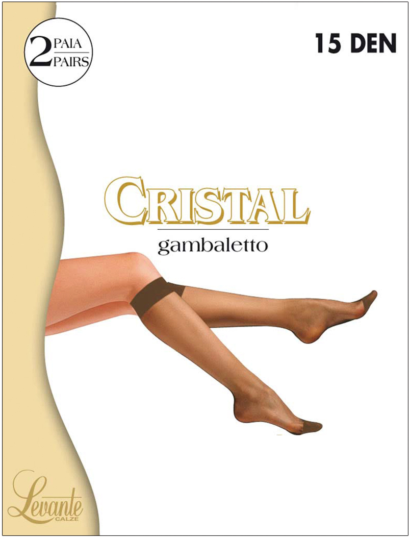 Гольфы женские Levante Cristal 15, цвет: Caffe (темно-коричневый), 2 пары. Размер универсальный гольфы pompea гольфы vani 20