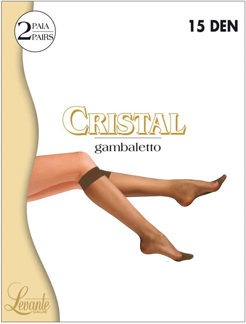 Гольфы женские Levante Cristal 15, цвет: Nero (черный), 2 пары. Размер универсальный