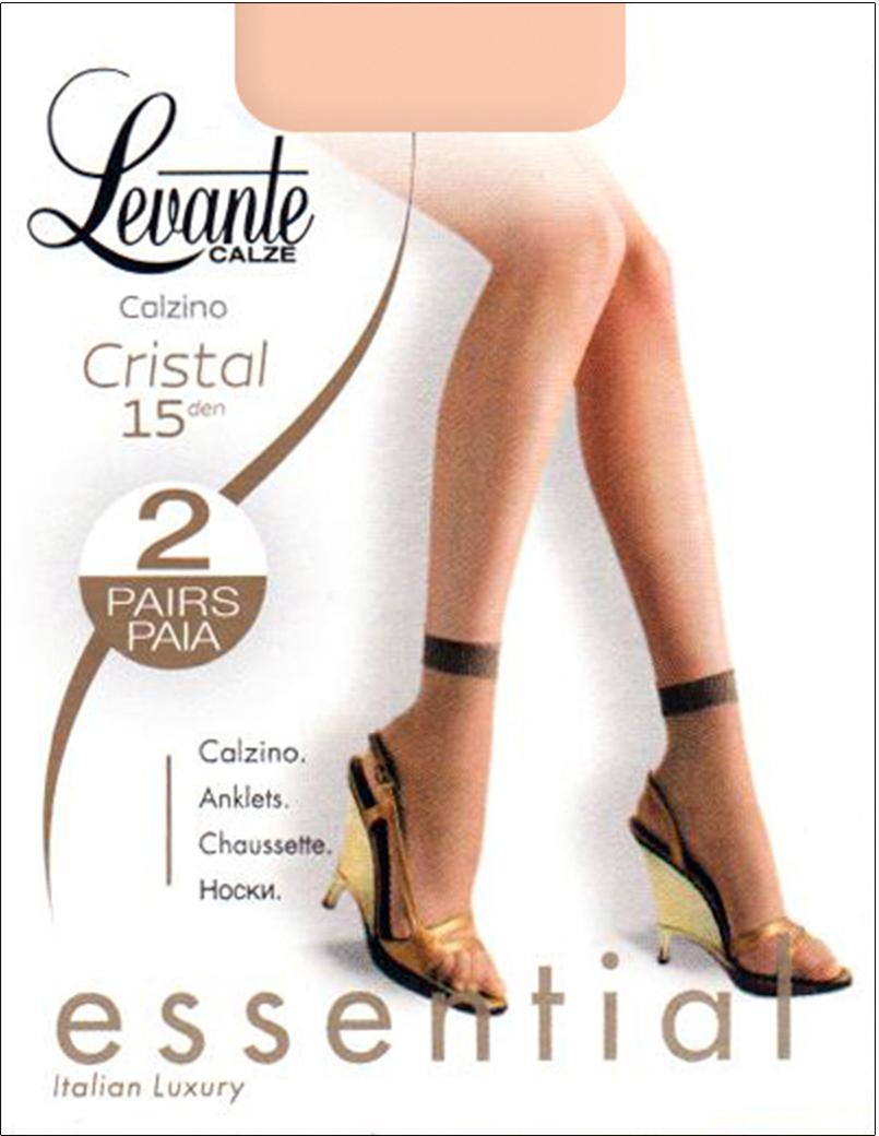 Носки женские Levante Cristal 15, цвет: Nero (черный), 2 пары. Размер универсальный носки 2 пары 20 den intreccio цвет черный