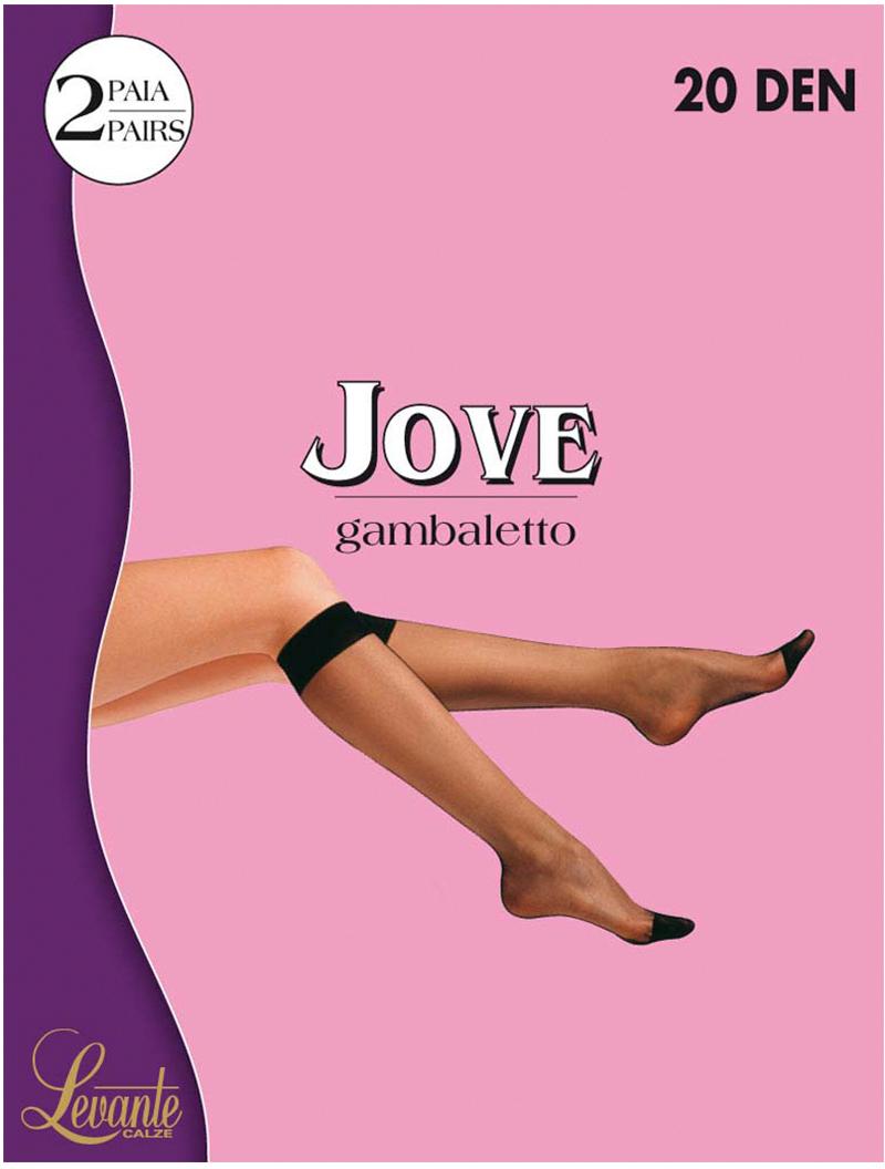 Гольфы женские Levante Jove 20, цвет: Nero (черный), 2 пары. Размер универсальныйJove 20Эластичные гольфы. Резинка Top Comfort. (2 пары)