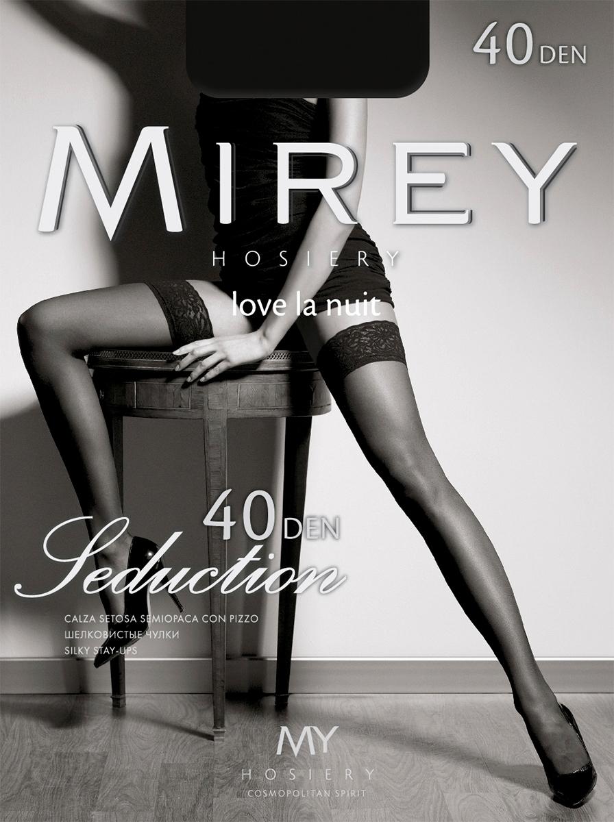 Чулки Mirey Seduction 40, цвет: Nero (черный). Размер 3/4 чулки seven til midnight большого размера с кружевной резинкой xl телесный