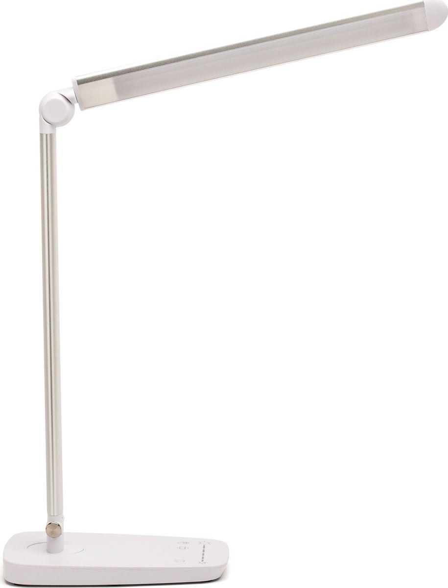 Лампа настольная Лючия L520. Galant, светодиодная, цвет: серый металлик, 10W4606400105749Светильник светодиодный настольный Лючия L520. Galant.Защита для глаз. Отсутствие световой пульсации USB-разъем для подзарядки 5 В 1.5 АCенсорное управление Цветовая температура света в диапазоне от 3500 до 6000 КДискретное изменение яркости свечения Предназначен для местного освещения внутри помещений. Напряжение сети 230 В, частота 50 Гц. Цветопередача Ra > 80.