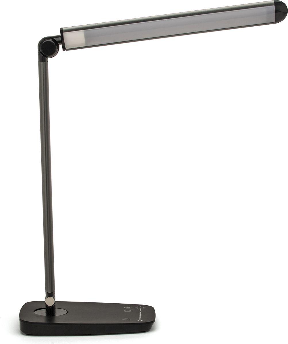 """Светильник светодиодный настольный Лючия """"L520. Galant"""".  Защита для глаз. Отсутствие световой пульсации USB-разъем для подзарядки 5 В 1.5 А Cенсорное управление Цветовая температура света в диапазоне от 3500 до 6000 К Дискретное изменение яркости свечения                    Предназначен для местного освещения внутри помещений. Напряжение сети 230 В, частота 50 Гц. Цветопередача Ra > 80."""