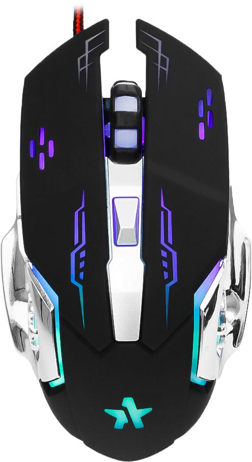 Гарнизон GM-710G Альфард, Black игровая мышьGM-710GМышь игровая Гарнизон GM-710G, Альфард, код Survarium, USB, чип Х3, черн., софт тач, 2400 DPI, 5кн.+колесо-кнопка