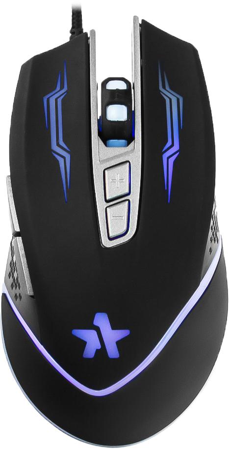 Гарнизон GM-730G Астерион, Black игровая мышьGM-730GМышь игровая Гарнизон GM-730G, Астерион, код Survarium, USB, чип Х3, черн., софт тач, 2400 DPI, 6 кн.+колесо-кнопка