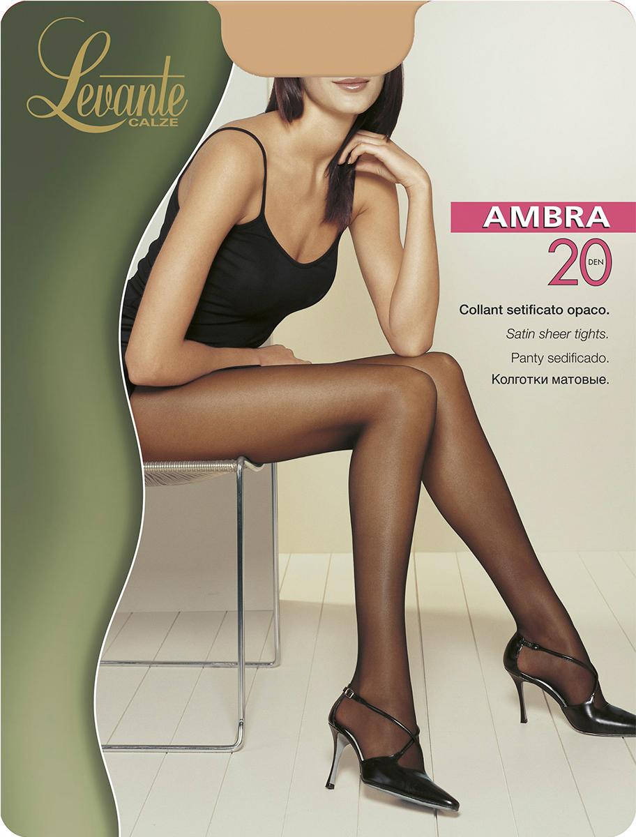 Колготки женские Levante Ambra 20, цвет: Naturel (бежевый). Размер 4Ambra 20Шелковистые матовые колготки с эффектом обнаженной кожи. Модель без шортиков, плоский шов, ластовица из хлопка, усиленный мысок.