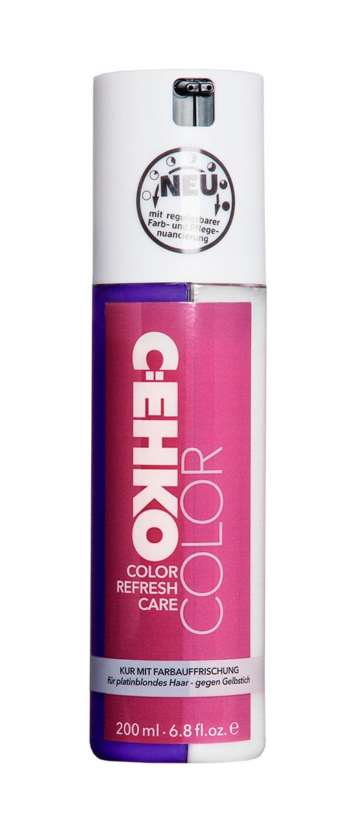 C:EHKO Кондиционер Color Refresh, для платинового оттенка блонд, 200 мл3581501Кондиционер для обновления цвета волос с индивидуальной регулировкой количества сочетает в себе уход и обновление цвета волос. Пантенол облегчает расчесывание волос, масло оливы ухаживает за поврежденными и окрашенными волосами, делает их эластичными и блестящими. Цвет волос приобретает более свежий и насыщенный оттенок. УФ-фильтр, который входит в состав продукта, защищает волосы от воздействия солнечных лучей и позволяет сохранить надолго бриллиантовый блеск окрашенных волос.
