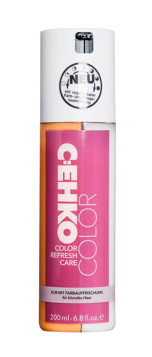 C:EHKO Кондиционер Color Refresh, для оттенка блонд и светлых волос, 200 мл3583501Кондиционер для обновления цвета волос с индивидуальной регулировкой количества сочетает в себе уход и обновление цвета волос. Пантенол облегчает расчесывание волос, масло оливы ухаживает за поврежденными и окрашенными волосами, делает их эластичными и блестящими. Цвет волос приобретает более свежий и насыщенный оттенок. УФ-фильтр, который входит в состав продукта, защищает волосы от воздействия солнечных лучей и позволяет сохранить надолго бриллиантовый блеск окрашенных волос.