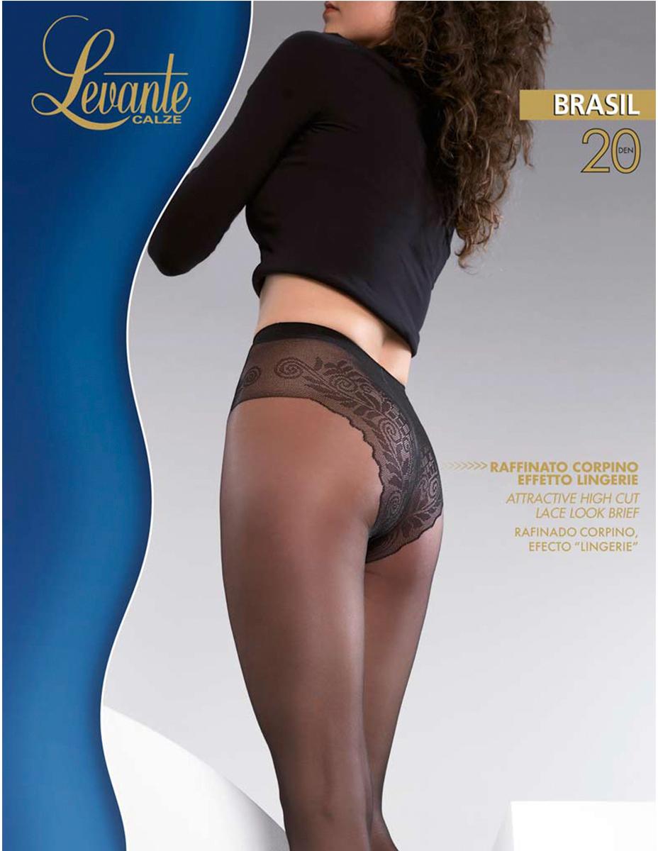 Колготки женские Levante Brasil 20, цвет: Nero (черный). Размер 5