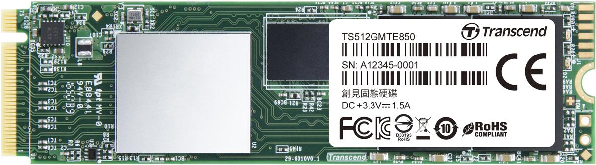 Transcend MTE850 512GB SSD-накопитель (TS512GMTE850)
