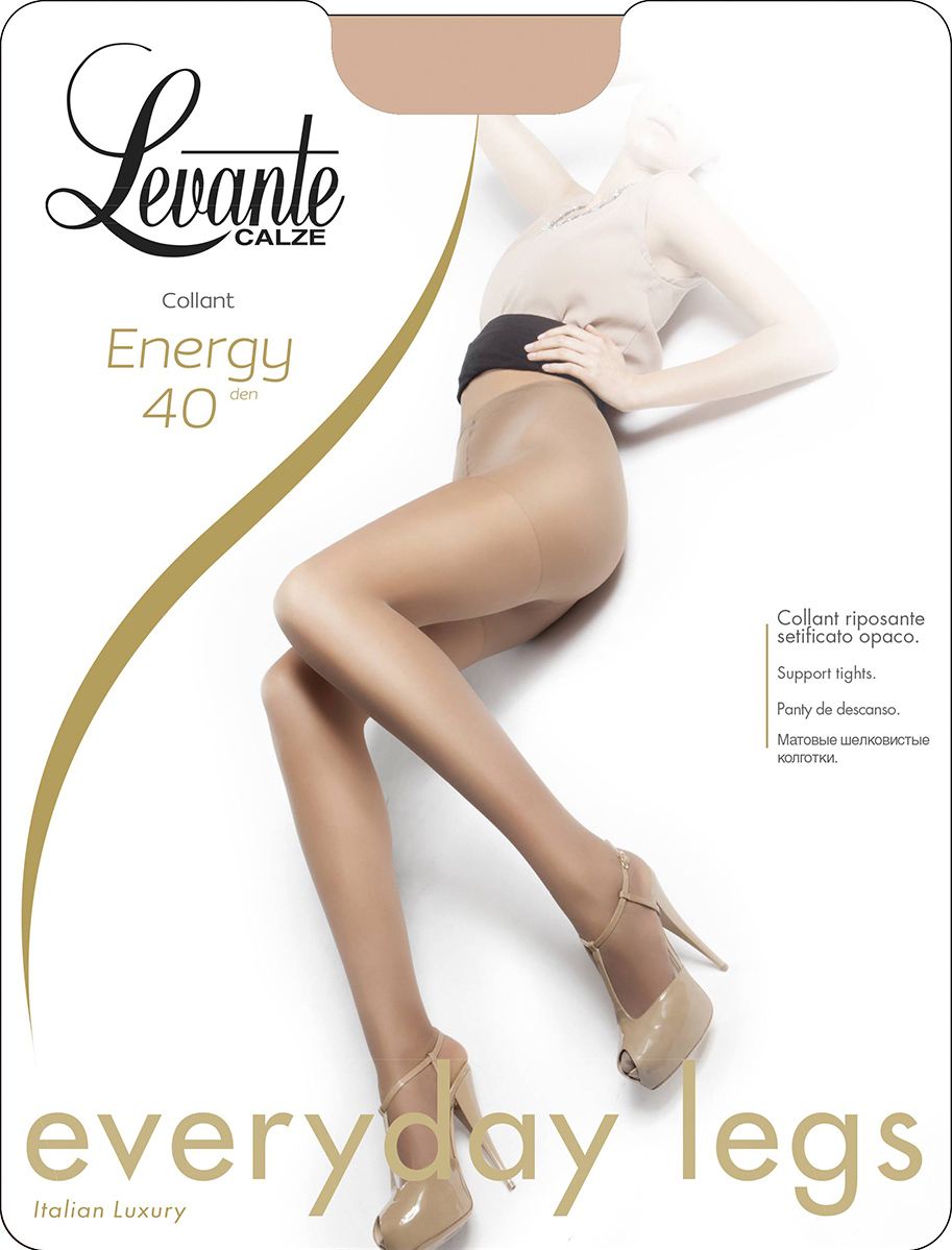 Колготки женские Levante Energy 40, цвет: Nero (черный). Размер 2Energy 40Шелковистые матовые колготки. Усиленные шортики и мысок.
