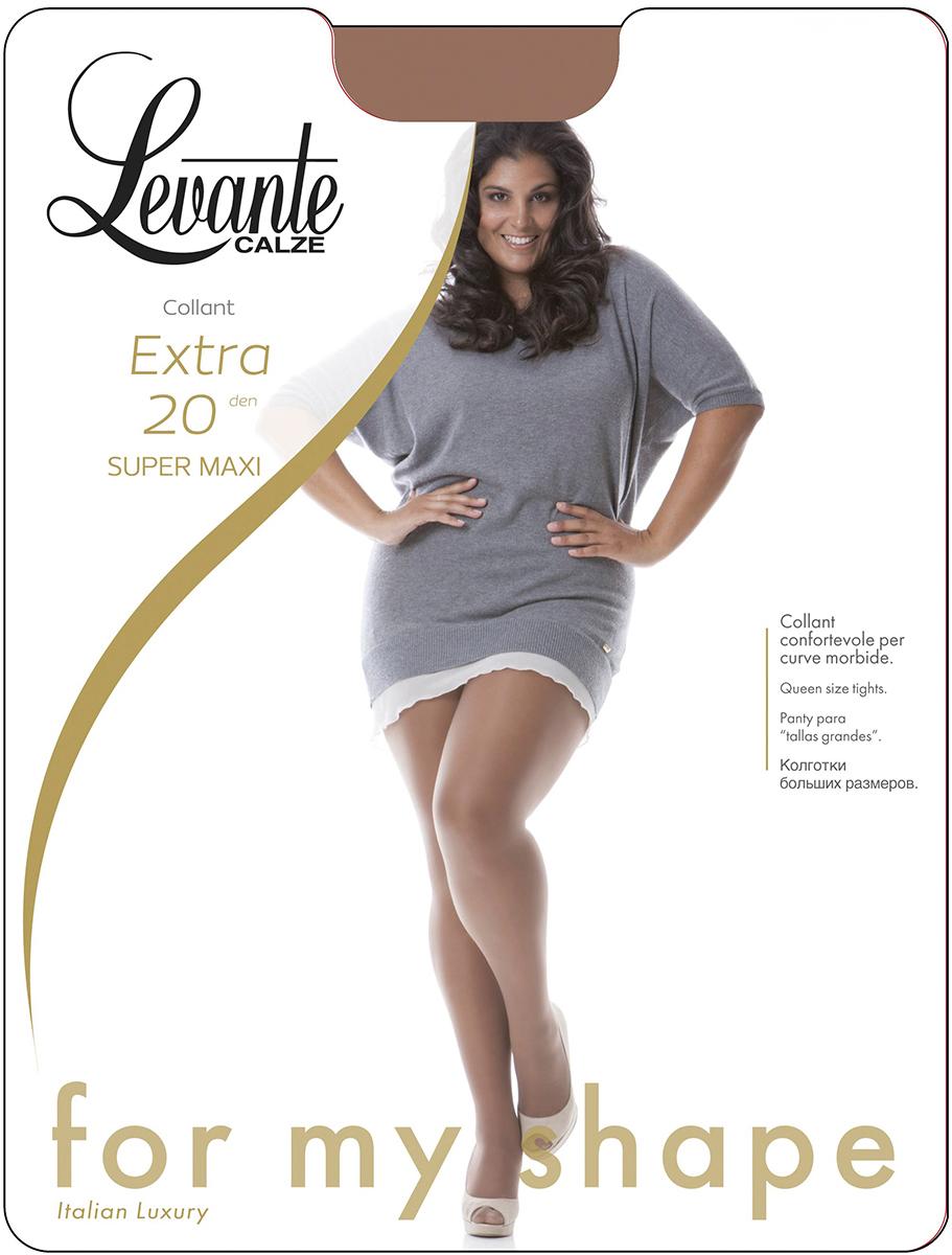 Колготки женские Levante Extra 20, цвет: Glace (темно-бежевый). Размер (43256)Extra 20Шелковистые, матовые колготки большого размера, разработанные с учетом всех особенностей полной фигуры. Классические шортики, один шов сзади, ластовица, усиленный мысок.