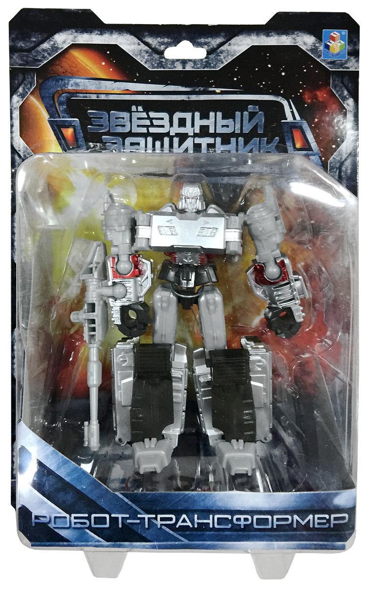 1TOY Робот-трансформер Звездный защитник танк 12 см 1toy робот трансформер звездный защитник самолет