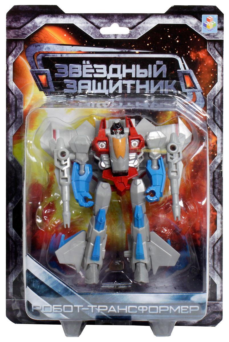 1TOY Робот-трансформер Звездный защитник истребитель 12 см
