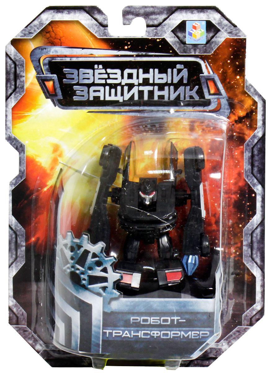 1TOY Робот-трансформер Звездный защитник полицейский автомобиль 7 см робот на радиоуправлении звездный защитник 26 см