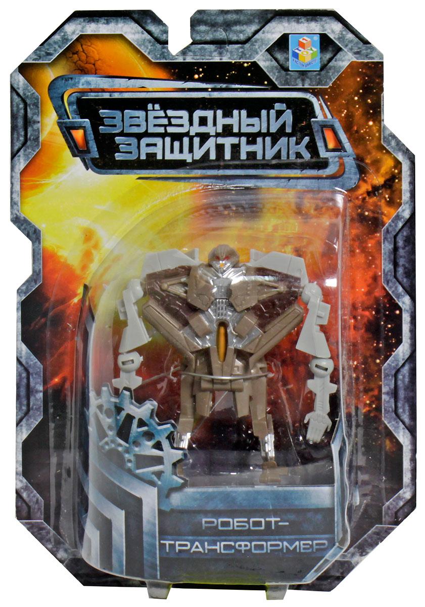 1TOY Робот-трансформер Звездный защитник истребитель 7 см 1toy робот трансформер звездный защитник самолет