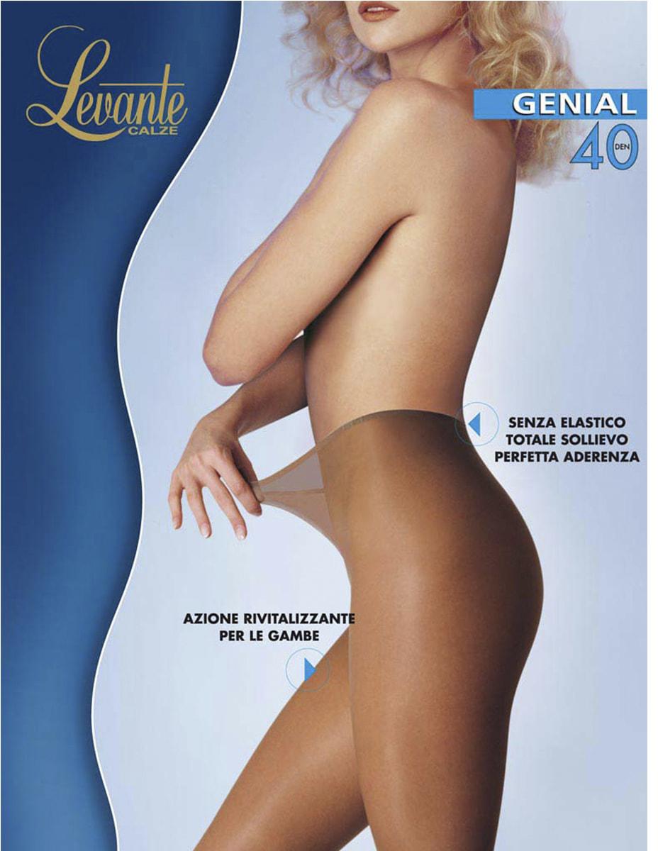 Колготки женские Levante Genial 40, цвет: Glace (темно-бежевый). Размер 4 колготки женские levante ambra 40 vb цвет glace темно бежевый размер 4