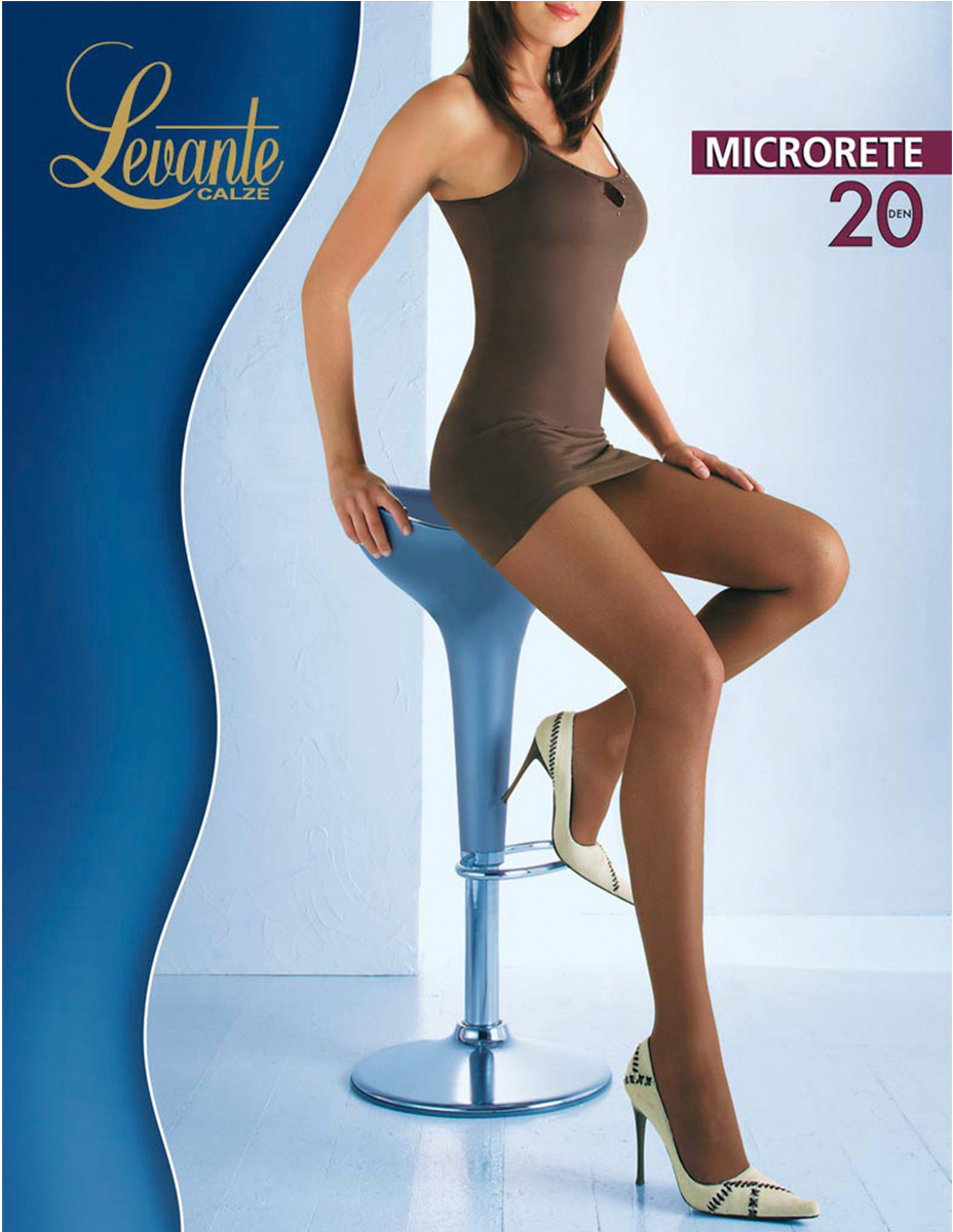 Колготки женские Levante MicroRete 20, цвет: Glace (темно-бежевый). Размер 4 колготки женские levante ambra 40 vb цвет glace темно бежевый размер 4