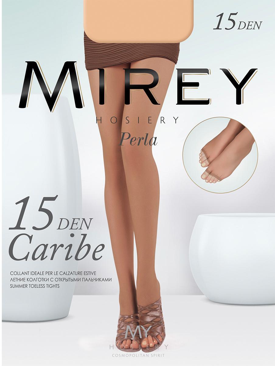 Колготки женские Mirey Caribe 15, цвет: Playa (бежевый). Размер 4Caribe 15Легкие летние колготки без мыска - идеальный вариант для открытой обуви. Без шортиков, плоские швы, ластовица из хлопка, открытый мысок.