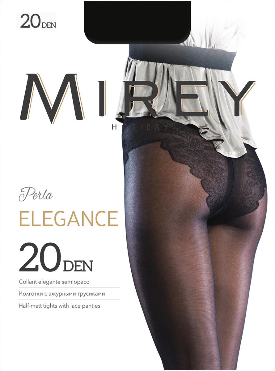 Колготки женские Mirey Elegance 20, цвет: Nero (черный). Размер 2Elegance 20Эластичные тонкие полуматовые колготки, с изящными кружевными трусиками, плоскими швами, невидимым усиленным мыском и ластовицей из хлопка.