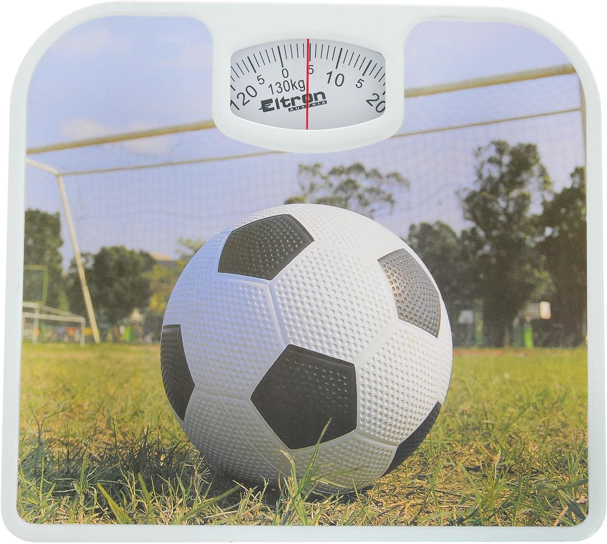 Весы напольные Eltron Футбол, механические, до 130 кг. 9217EL какой фирмы напольные весы лучше купить