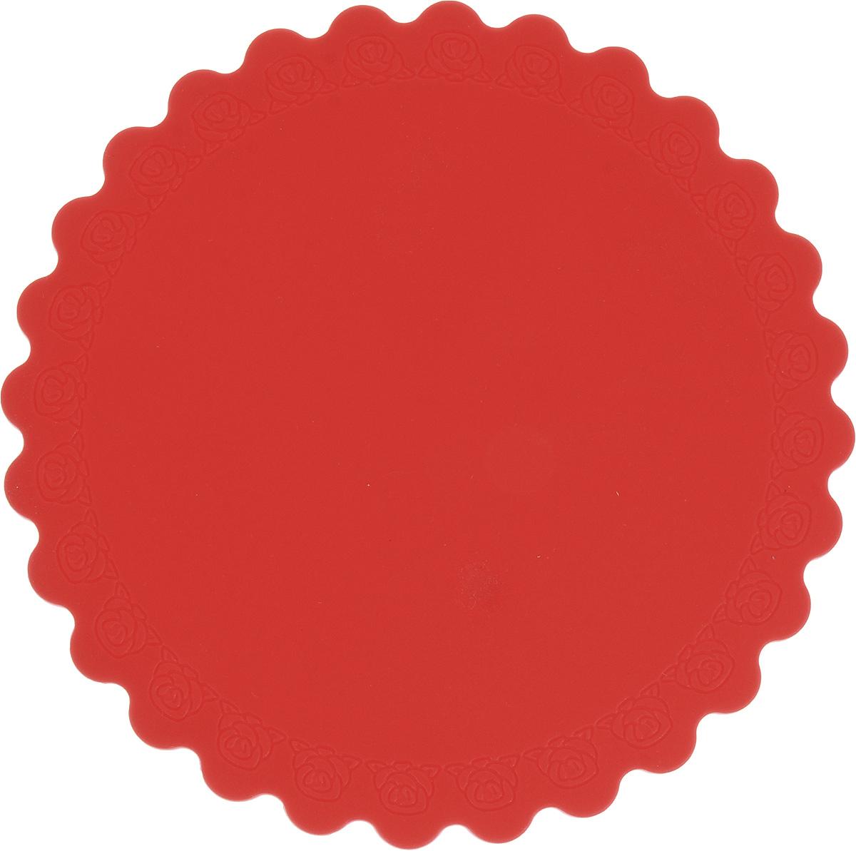 Подставка под горячее Доляна Цветок, цвет: красный, диаметр 14 см1057101_красныйСиликоновая подставка под горячее - практичный предмет, который обязательнопригодится в хозяйстве. Изделие поможет сберечь столы, тумбы, скатерти иклеёнки от повреждения нагретыми сковородами, кастрюлями, чайниками итарелками. Высокая термостойкость (от -40 до +230 С) позволяет применять форму в духовыхшкафах и морозильных камерах.