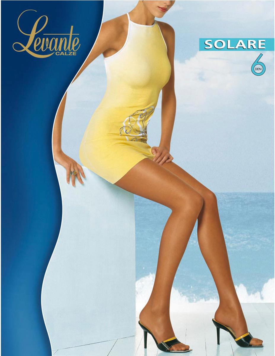 Колготки женские Levante Solare 6, цвет: Glace (темно-бежевый). Размер 4
