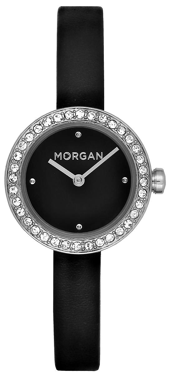 Часы наручные женские Morgan, цвет: черный, серый металлик. MG 008S/AA