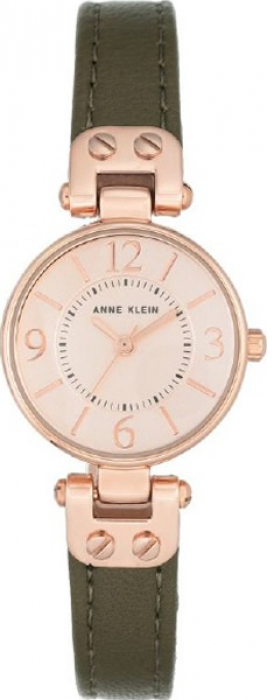 Часы наручные женские Anne Klein, цвет: оливковый, розовое золото. 9442 RGOL
