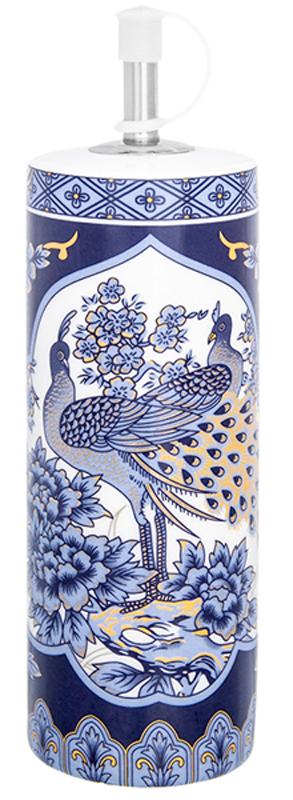 Соусник Elan Gallery Павлин синий, цвет: белый, синий, 250 мл