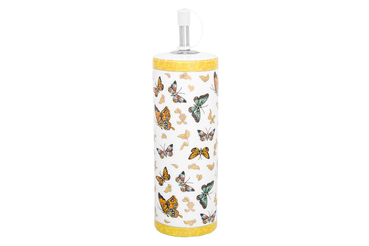 Соусник Elan Gallery Бабочки, цвет: белый, желтый, 250 мл180926Соусник имеет дозатор с колпачком и предназначен для хранения соуса или масла. Съемный дозатор с колпачком сохранит аромат масла или соуса, удобен в эксплуатации.
