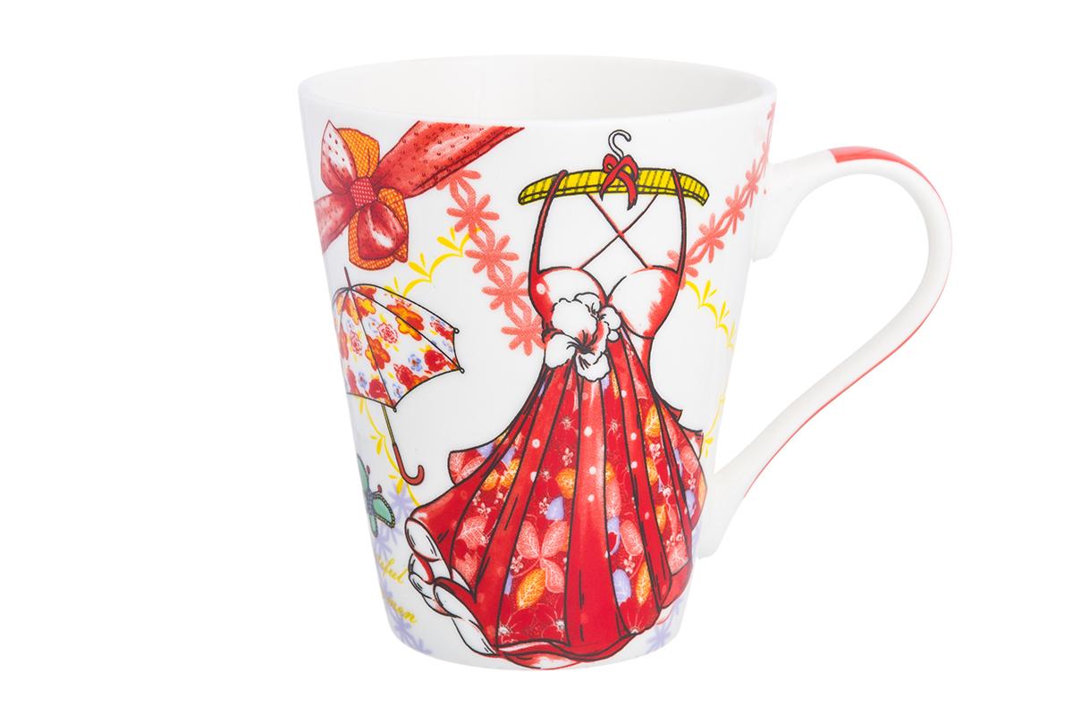 Кружка Elan Gallery Платье с зонтиком, 280 мл230151Оригинальная кружка имеет широкую горловину и удобную ручку для повседневного использования. Не оставит равнодушным ни одного из ваших гостей и станет прекрасным выбором для подарка любимым.