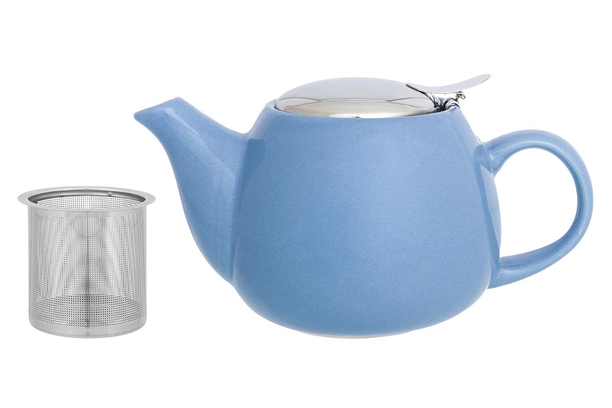Чайник заварочный Elan Gallery, с ситом, цвет: васильковый, 650 мл230154Необычный заварочный чайник Elan Gallery украсит сервировку стола к чаепитию. Благодаря красивому дизайну и качеству исполнения он станет хорошим подарком друзьям и близким, а металлическое сито не позволит чаинкам попасть в ваш напиток.