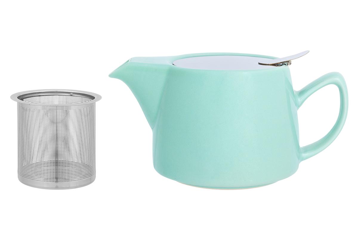 Чайник заварочный Elan Gallery, с ситом, цвет: мятный, 450 мл230156Необычный заварочный чайник Elan Gallery украсит сервировку стола к чаепитию. Благодаря красивому дизайну и качеству исполнения он станет хорошим подарком друзьям и близким, а металлическое сито не позволит чаинкам попасть в ваш напиток.