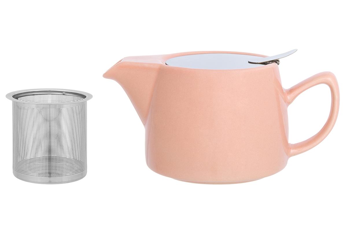 Чайник заварочный Elan Gallery, с ситом, цвет: персиковый, 450 мл230157Необычный заварочный чайник украсит сервировку стола к чаепитию. Благодаря красивому дизайну и качеству исполнения он станет хорошим подарком друзьям и близким, а металлическое сито не позволит чаинкам попасть в ваш напиток.