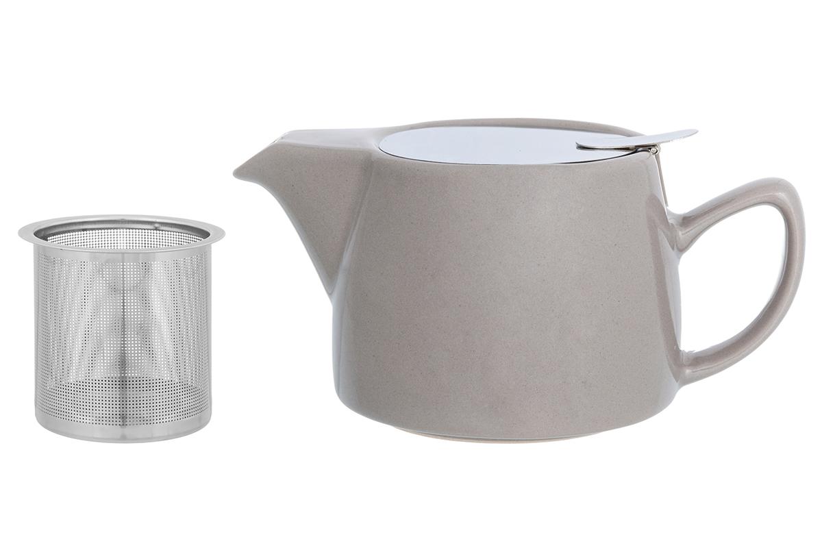 Чайник заварочный Elan Gallery, с ситом, цвет: капучино, 450 мл230159Необычный заварочный чайник украсит сервировку стола к чаепитию. Благодаря красивому дизайну и качеству исполнения он станет хорошим подарком друзьям и близким, а металлическое сито не позволит чаинкам попасть в ваш напиток.