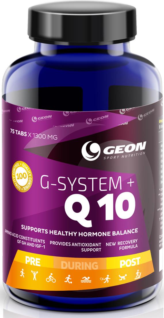 Витаминно-минеральный комплекс Geon Джи Систем + Q10, 1000 мг, 75 таблеток эвалар формула сна усиленная формула 30 капсулы