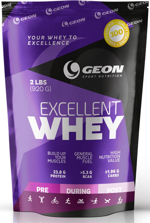 Протеин Geon Эксэллент Вэй, печенье со сгущеным молоком,540868Концентрат сывороточного белка, обогащенный свободными аминокислотами и пищевыми волокнами 3-го поколения. Отличается великолепным ненавязчивым вкусом, не содержит сахар, Ацесульфам, аспартам и цикломат.Состав:концентрат молочного белка, глицин, бетаина гидрохлорид, мономульс, пищевые волокна цитрусовых, лецитин, ксантановая камедь, сукралоза, смесь ароматизаторов.