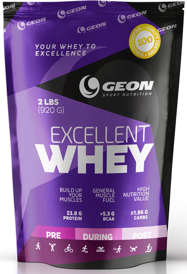 Протеин Geon Эксэллент Вэй, клубника со сливками, 920 г540907Концентрат сывороточного белка, обогащенный свободными аминокислотами и пищевыми волокнами 3-го поколения. Отличается великолепным ненавязчивым вкусом, не содержит сахар, Ацесульфам, аспартам и цикломат.Состав:концентрат молочного белка, глицин, бетаина гидрохлорид, мономульс, пищевые волокна цитрусовых, лецитин, ксантановая камедь, сукралоза, смесь ароматизаторов.