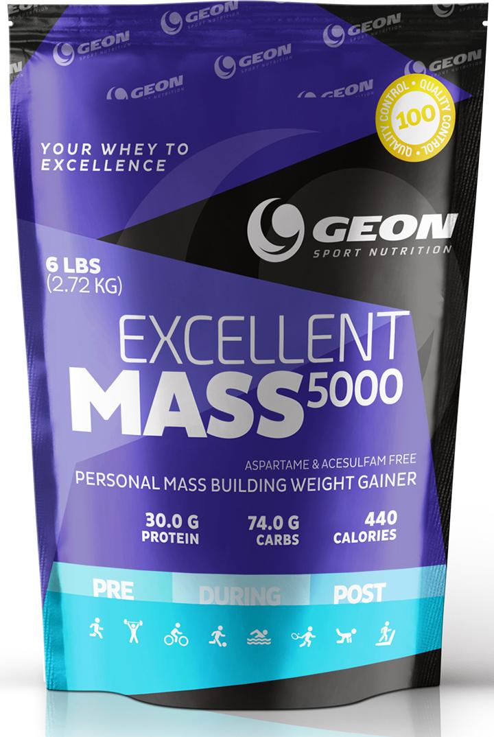 Гейнер Geon Экселлент Масс 5000, шоколад, 2,72 кг